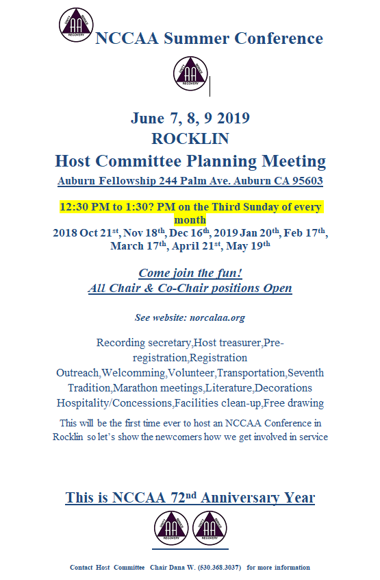 Planning Meeting Info