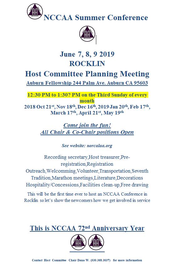 Planning Meeting Info