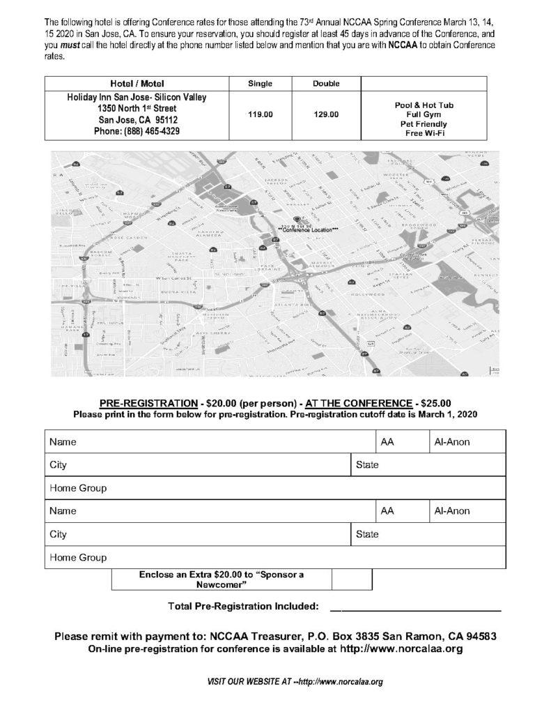 Spring Conference Registration & Map